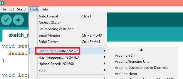 ESP-WROOM-32 Tutorial: Uploading a program with Arduino IDE